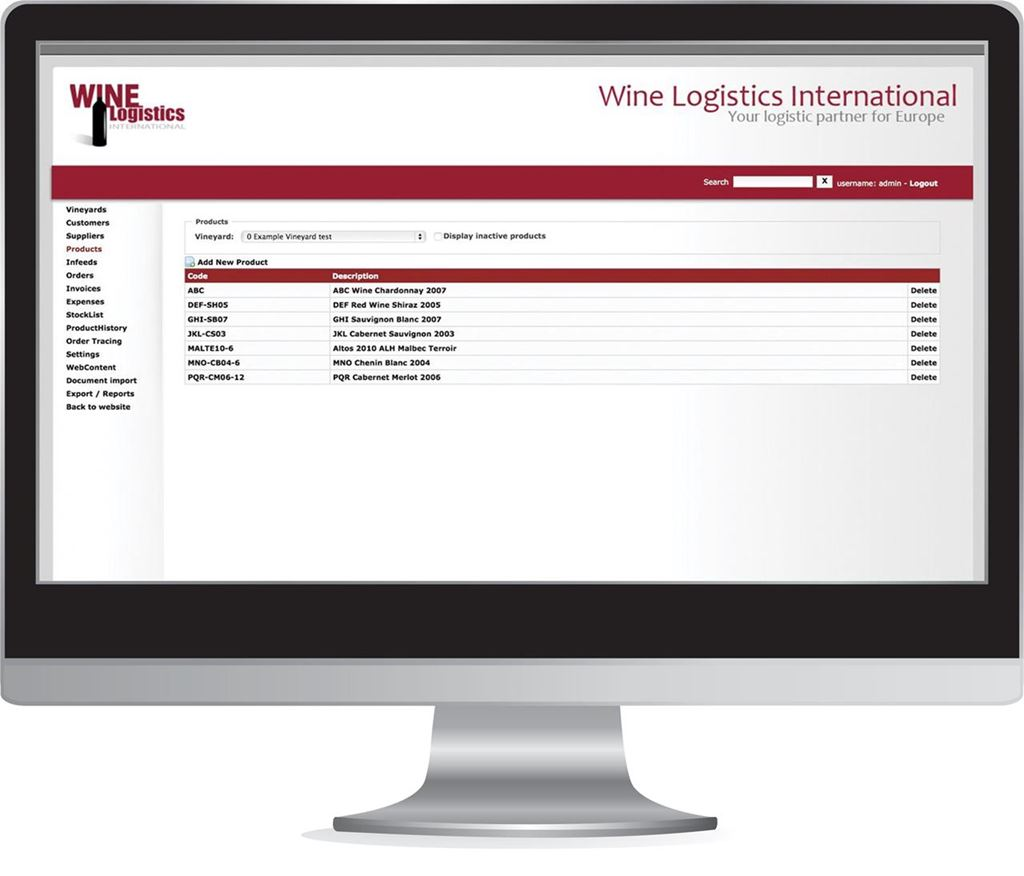 Wine-Logistics International ERP